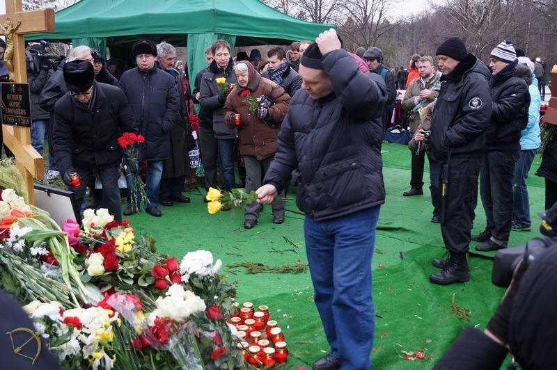 похороны немцова фото с троекуровского кладбища