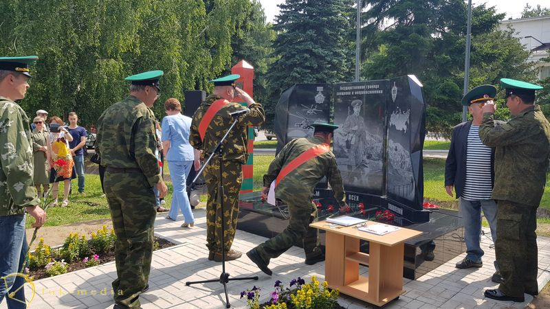 Открытие памятника пограничникам в Бирске