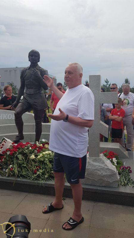 Памятник Фёдору Черенкову, Юрий Гаврилов на открытии памятника