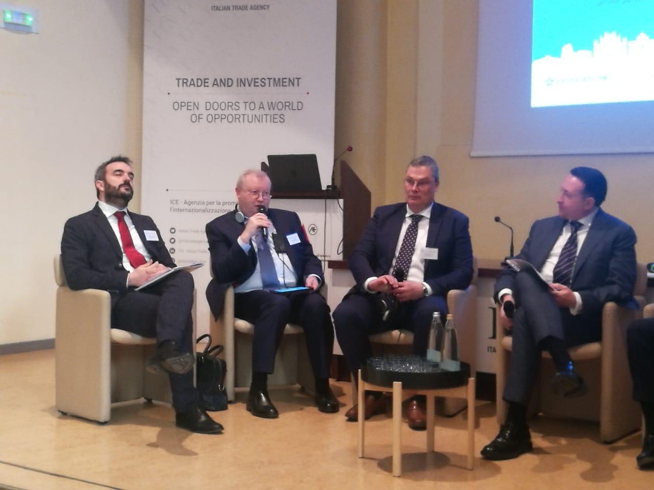 Сергей Беднов на конференции в Милане