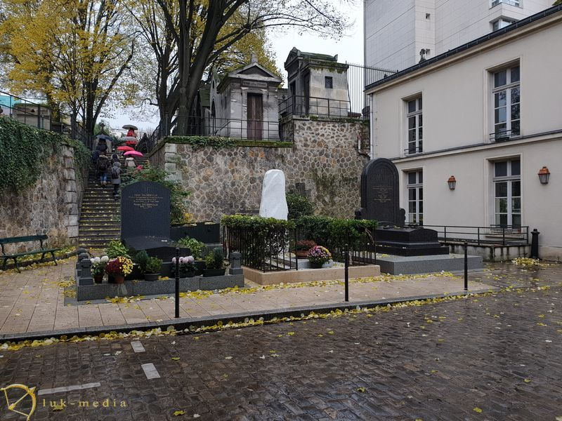 Кладбище Монмартр. Вход на кладбище Монмартр