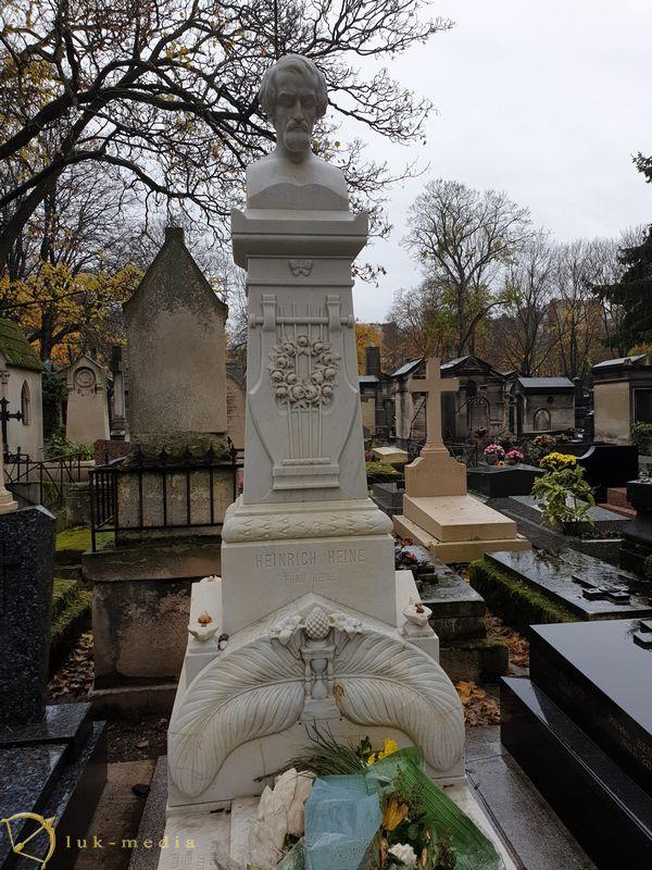 Кладбище Монмартр. Могила Генриха Гейне