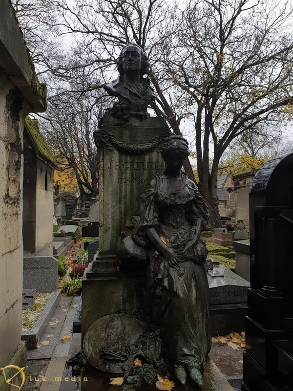 Кладбище Монмартр. Могила Жан-Батиста Грёзв