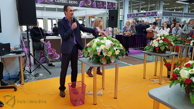 Конкурс флористов на выставке Некрополь 2018