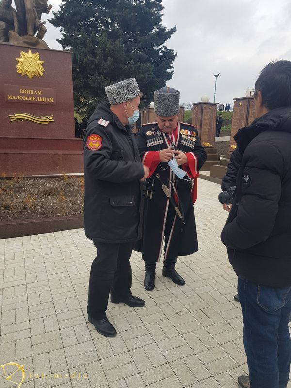 Открытие памятника в Мысхако
