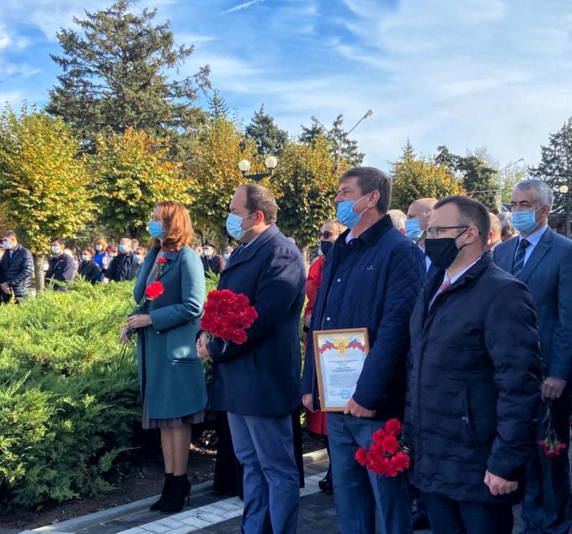 Открытие памятника Вечный огонь в станце Ленинградская