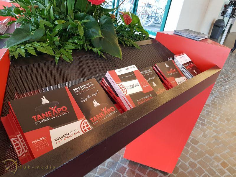 Открытие выставки в Болонье