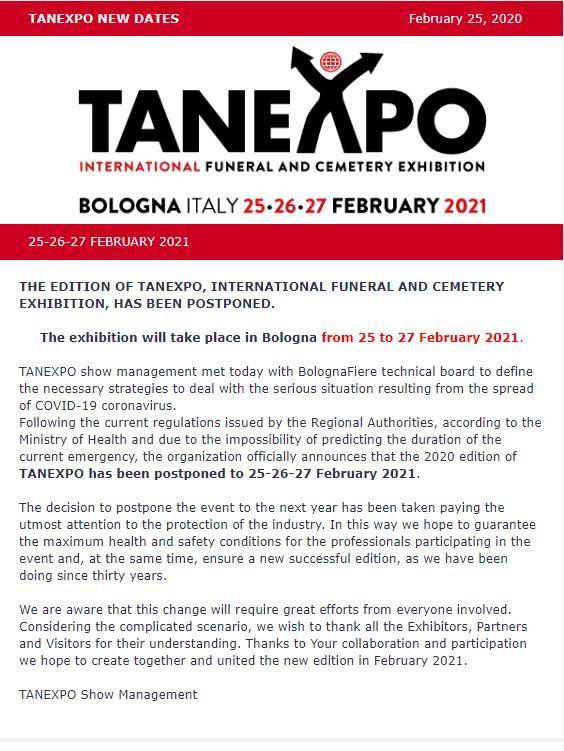 Выставку TANEXPO перенесли на 2021 год