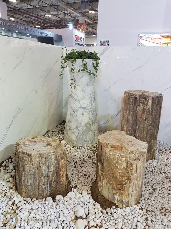 Камень в интерьере на выставке Xiamen Stone Fair 2018