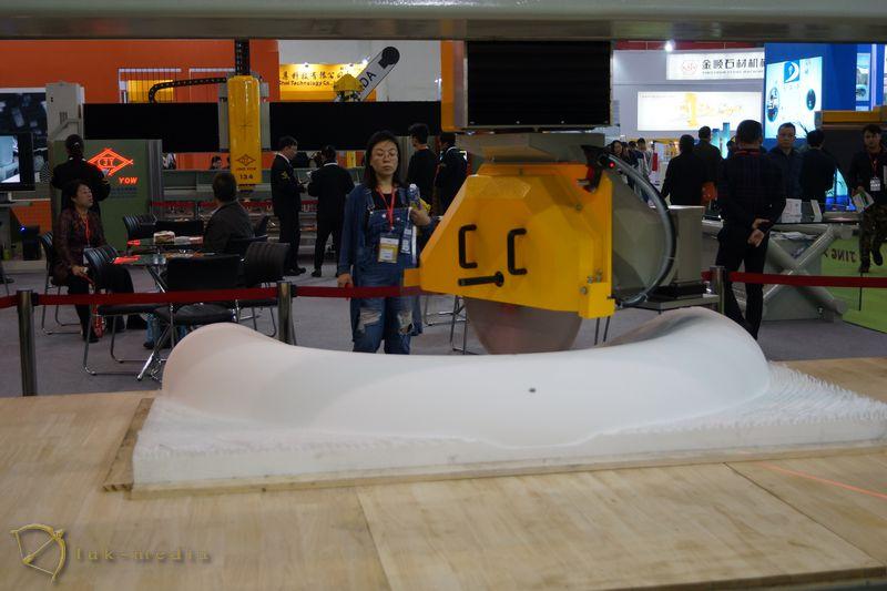 Камнеобрабатывающее оборудование на выставке в Сямэне 2018. часть вторая