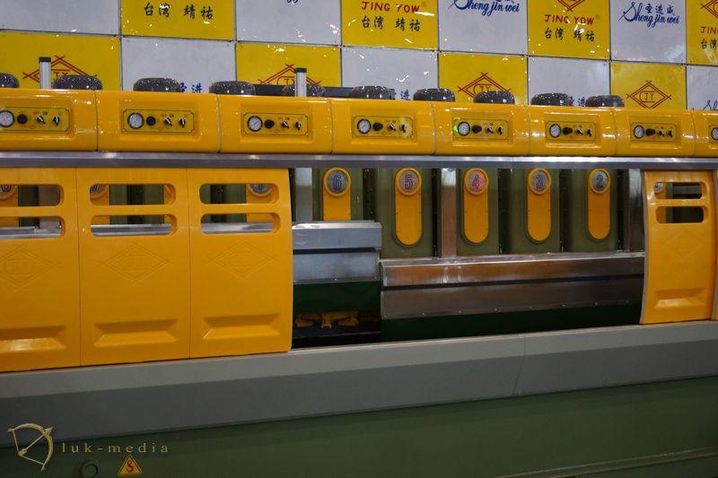 Камнеобрабатывающее оборудование на выставке в китае