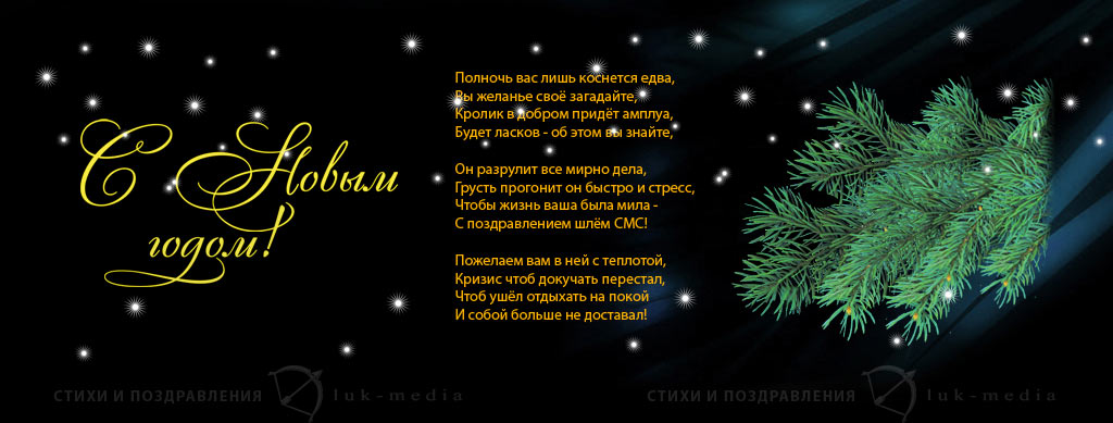Новогодние поздравления на украинском языке смс
