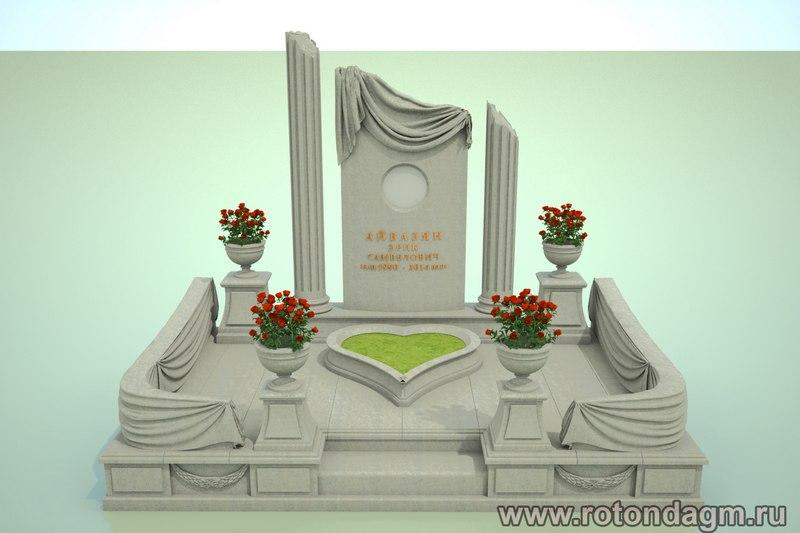 визуализация памятников 3D дизайн