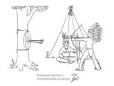 раскраска индейцев для детей