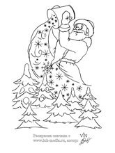 раскраска на тему новый год распечатать, раскраска на тему ...