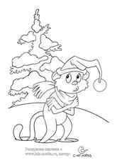 раскраски год обезьяны