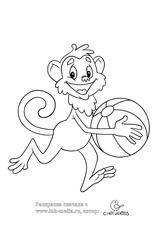 разукрашки обезьяна