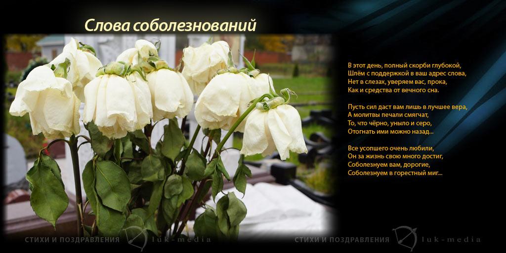 прими мои соболезнования стихи